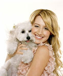 Ashley Tisdale and her Maltipoo