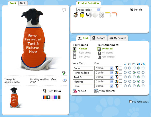 Create custom dog shirts Dog clothes design your own