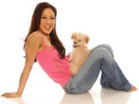 Michelle Kwan with Maltipoo Ginseng