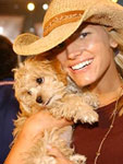 Jessica Simpson with Maltipoo Daisy