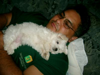 Mitzy with her dad