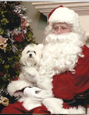 Mia and Santa '08