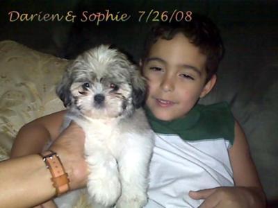Sophie and my nephew Darien