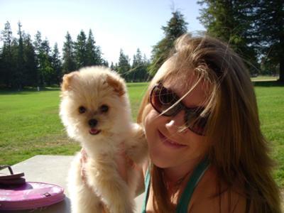 Marina as a Puppy at the Park